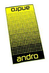 Andro Handdoek Dots Zwart/Geel