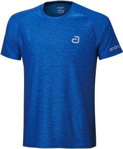 Andro T-Shirt Melange Alpha Blauw