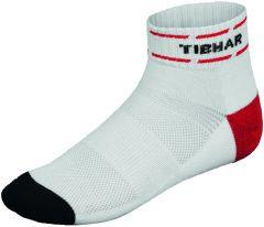 Tibhar Sokken Classic Wit/Rood/Zwart