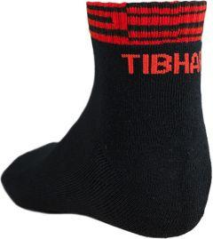 Tibhar Sokken Line Zwart/Rood