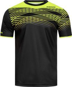Donic T-Shirt Clix Zwart/Fluo Geel