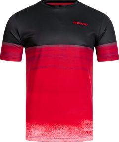 Donic T-Shirt Fade Zwart/Rood