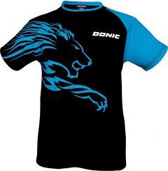 Donic T-Shirt Lion Zwart/Blauw