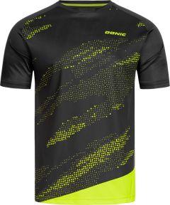 Donic T-Shirt Mirage Zwart/Fluo Geel