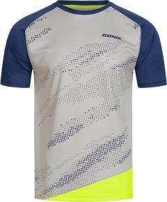 Donic T-Shirt Mirage Grijs/Marine/Fluo Geel