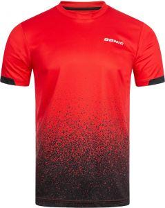 Donic T-Shirt Split Rood/Zwart