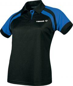 Tibhar Shirt World Lady Zwart/Blauw