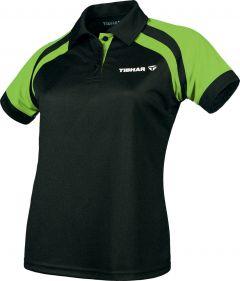 Tibhar Shirt World Lady Zwart/Lime Groen