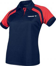 Tibhar Shirt World Lady Navy/Rood